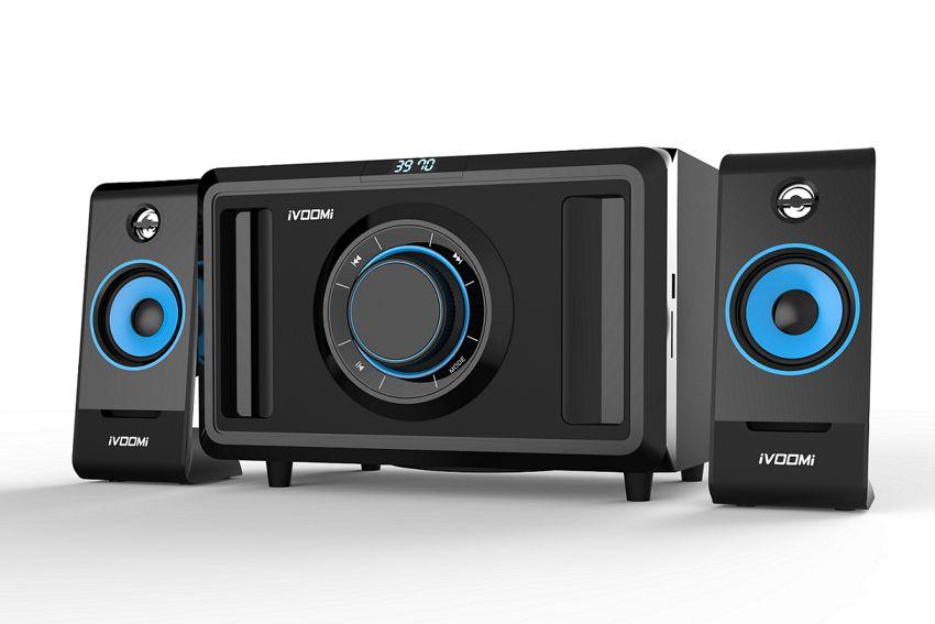 iVOOMi ηχεία 2.1 channel – 35 watt – USB 2.0V / SD / FM / LCD – Τηλεχειριστήριο