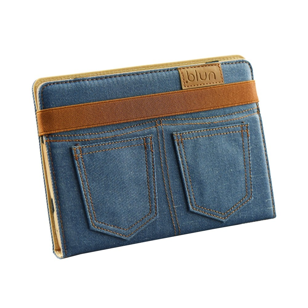 Blun Universal Θήκη JEANS BookCase για Tablet 10.1 inch - Blue