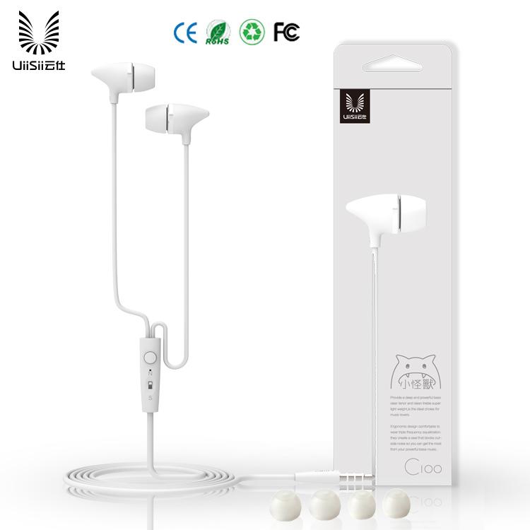 UIISII Handsfree C100 Round cable Universal για Smartphones 3.5mm white