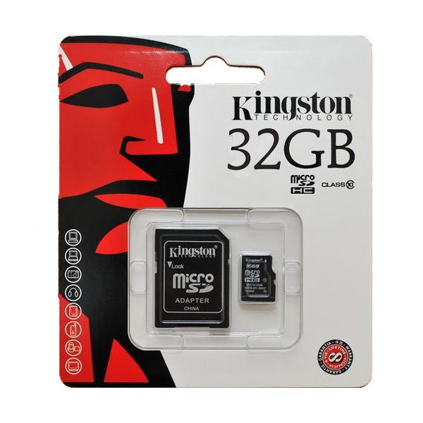 Kάρτα μνήμης Kingston MicroSDHC UHS-I 32GB Ultra Class 10 (W:10Mb R:45mb) & SD Adapter