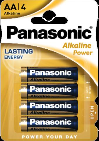Αλκαλικές μπαταρίες Panasonic AA LR06 1.5v – (4τεμ) Blister