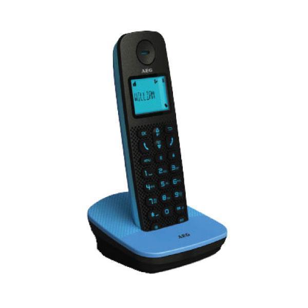 Ασύρματο Τηλέφωνο AEG D120 Voxtel με caller id Μάυρο/Μπλε