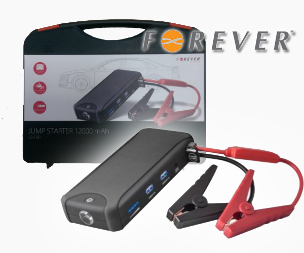 Forever JS-100 φορητός εκκινητής αυτοκινήτου/moto & power bank 12000 mAh