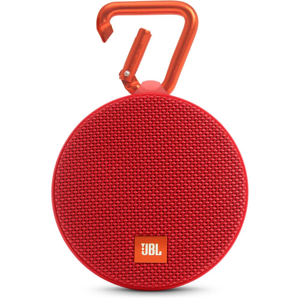 JBL Clip 2 Bluetooth Speaker waterproof red