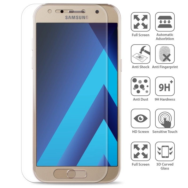 OEM Full screen Tempered Glass/Αντιχαρακτικό γυαλί 0.3mm 9H for Samsung Galaxy A3 A320 (2017)