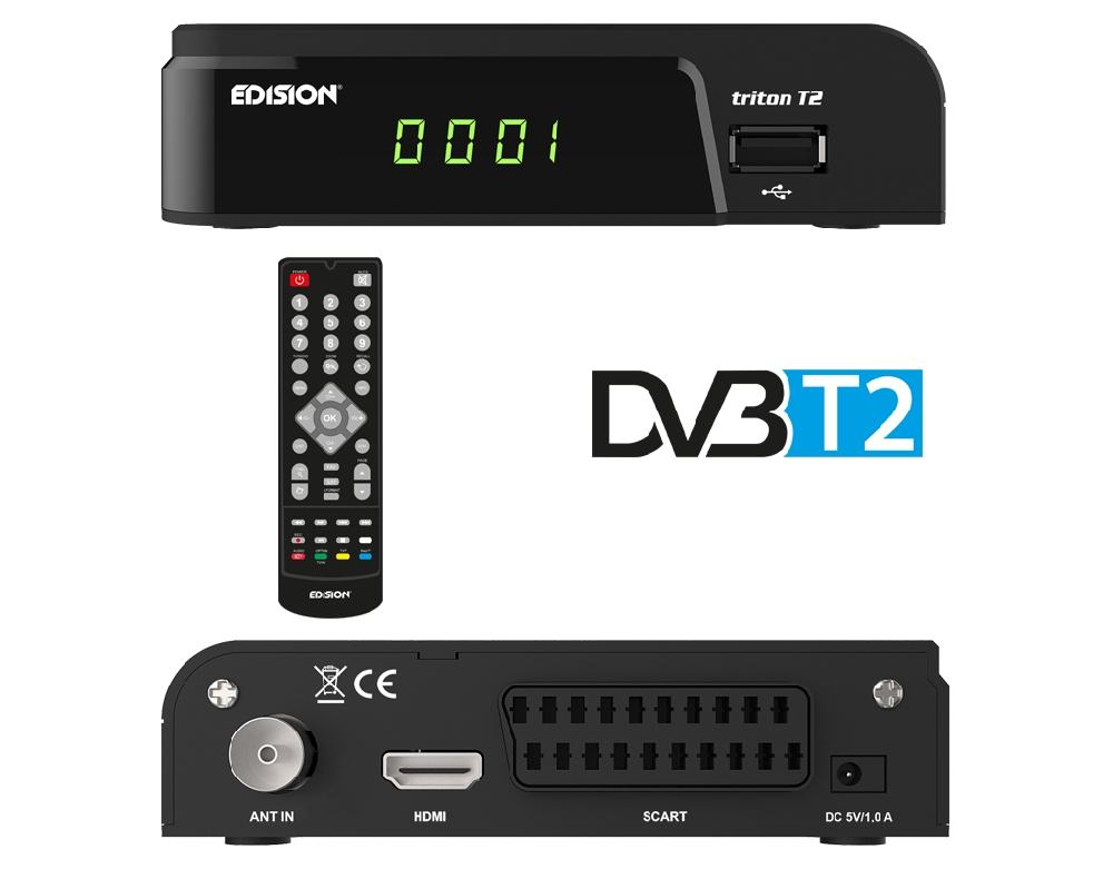 EDISION Triton T2 Επίγειος Δέκτης MPEG4 HD (HDMI & Scart)