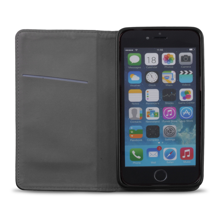 72406-5900495372406- OEM Smart Magnet leather case for Apple iphone 6 4.7inch - Black