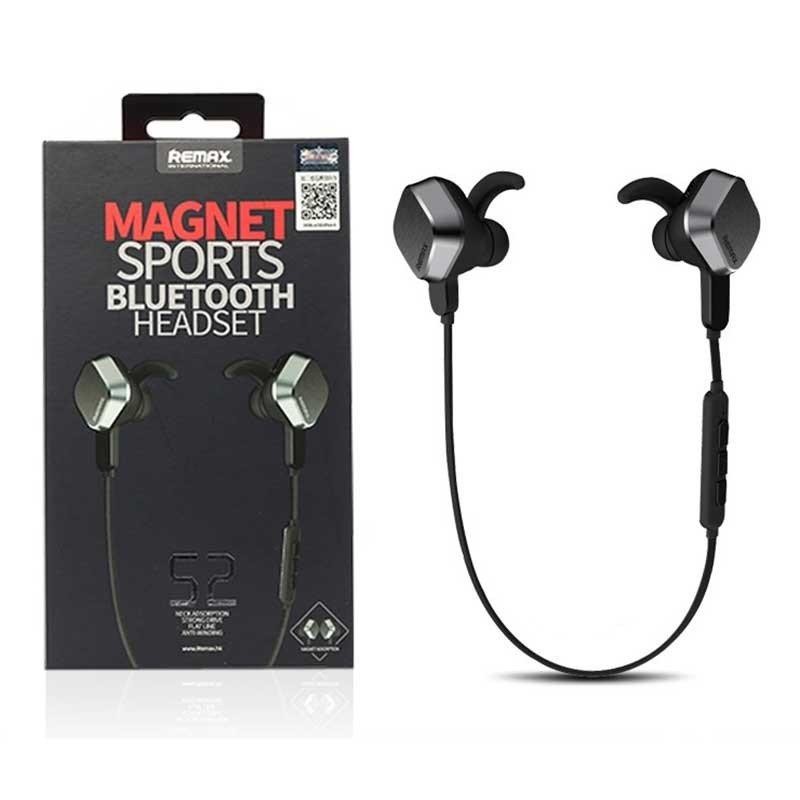 Ακουστικά Bluetooth stereo sports Remax RB-S2 με μαγνητική στήριξη - Black