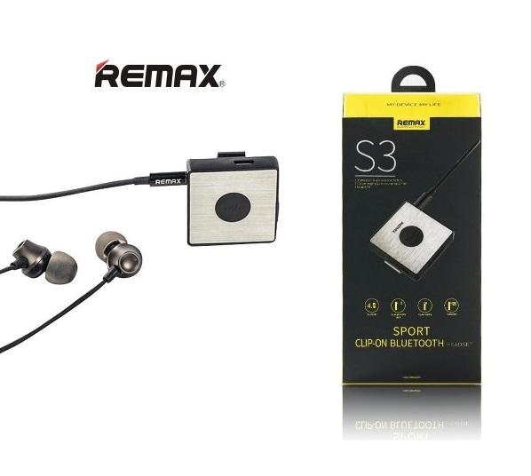 Ακουστικά Bluetooth 4.1 stereo Clip-On Remax RB-S3 - Black