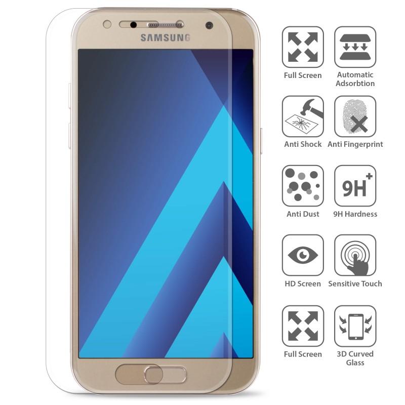 OEM Full screen Tempered Glass/Αντιχαρακτικό γυαλί 0.3mm 9H for Samsung Galaxy A3 A320 (2017)